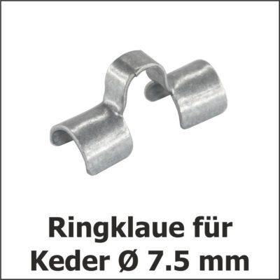 Ringklaue für Keder Ø 7.5 mm