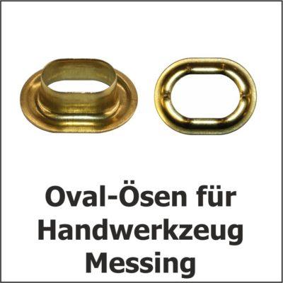 Oval-Ösen Messing
