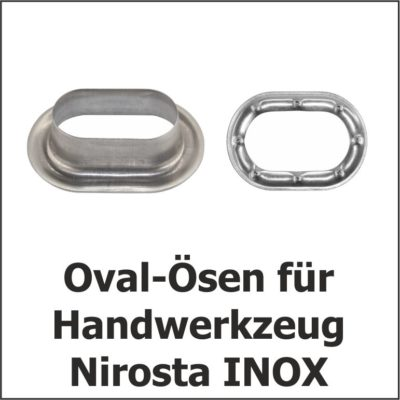 Oval-Ösen Nirosta INOX