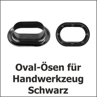 Oval-Ösen Schwarz