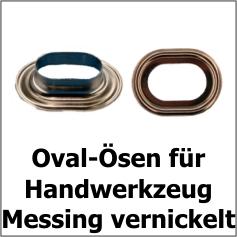 Oval-Ösen Messing vernickelt