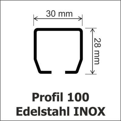 Profil 100 Edelstahl INOX