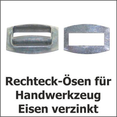 Rechteck-Ösen Eisen verzinkt