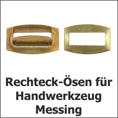 Reckteck-Ösen Messing