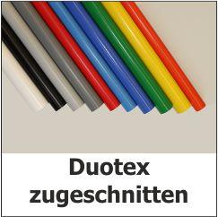 Duotex zugeschnitten