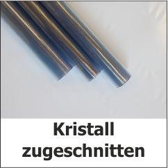 Kristall zugeschnitten